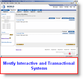 Interactive and Transactional Systems