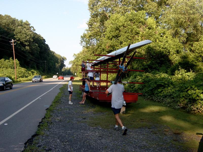 Rowing trailer