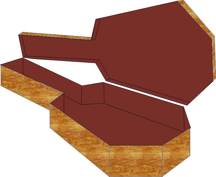 Guitar Coffin Case Old Mill Martin 1857 Model 5