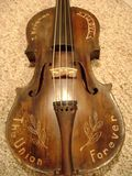 Civil War incised fiddle