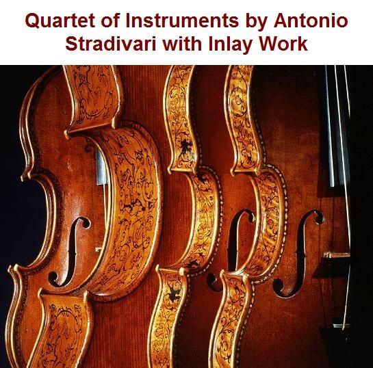 Quartet of Inlaid Instruments by Strad