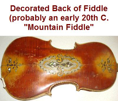 Decorated violin back