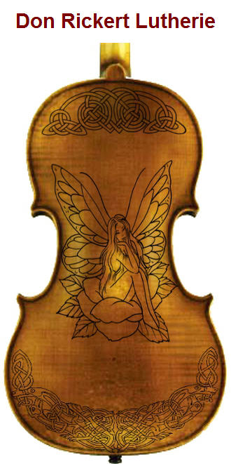 Copy of Rickert Custom Fiddle with Fairy and Knot Work