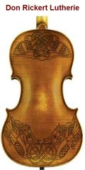 Copy of Back of Rickert Custom with Celtic Knot Work Rosing