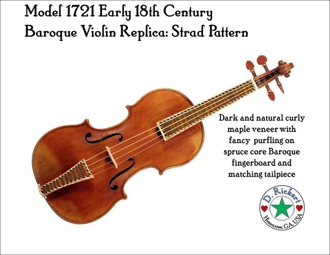 Baroque violin image