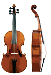 Artistic Violoncello da spalla front and side