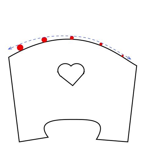 Bridge arc with fat strings problem illus
