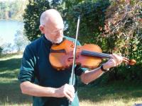 Dr Jeff playing viola