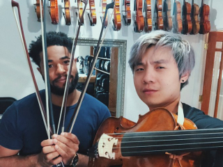Albert Chang with Rickert Cello da Spalla 2